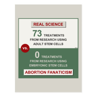 Adult Stem Cell Research Postcard