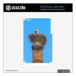 Adult stork in nest on chimney.JPG iPod Touch 4G Skin