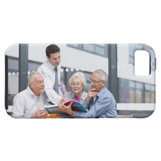 Adult students and teacher studying together in 2 iPhone SE/5/5s case