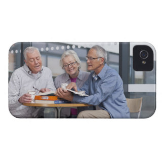Adult students studying together in cafe iPhone 4 Case-Mate case