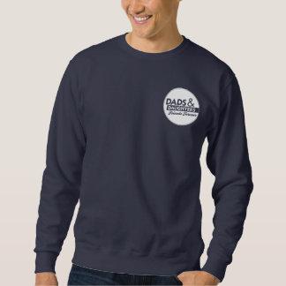 Adult Sweatshirt: Large Back Logo Front Pocket Art Pullover Sweatshirt