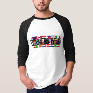 Adult Team Bear World Raglan 3/4 Sleeve T-shirt