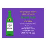 Adult Wine Birthday Party Invitation - Purple Invites