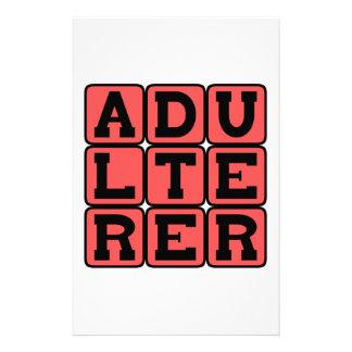 Adulterer, Scarlet Letter Customized Stationery