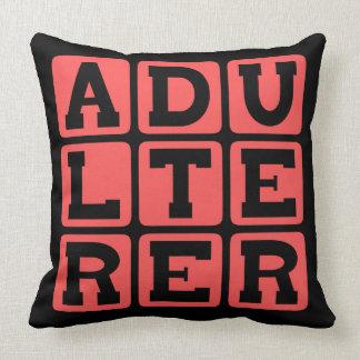 Adulterer, Scarlet Letter Pillows