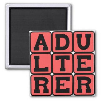 Adulterer, Scarlet Letter Refrigerator Magnet
