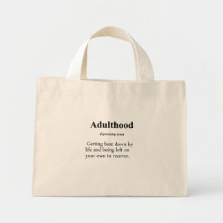 Adulthood Definition Canvas Bags