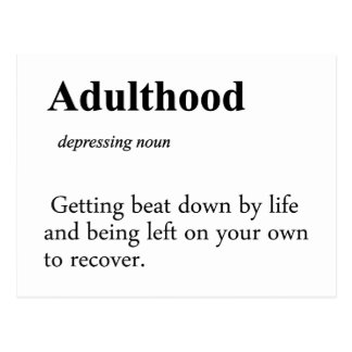 Adulthood Definition Postcard