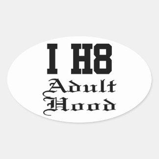 adulthood oval sticker