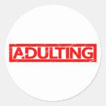 Adulting Stamp Classic Round Sticker