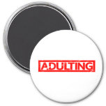 Adulting Stamp Magnet