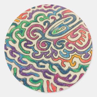 Adulting Zen Classic Round Sticker