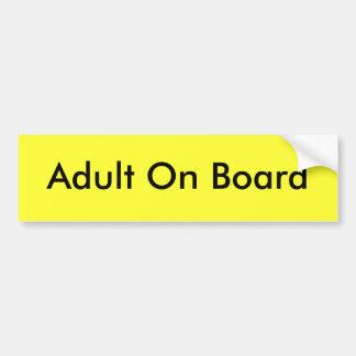 Adulto a bordo pegatina para auto