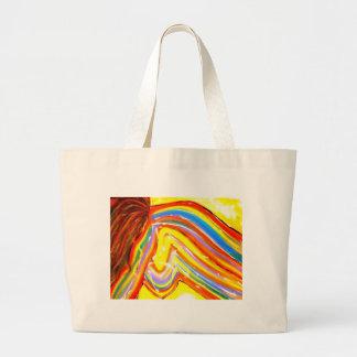 Adulto abstracto colorido de la pintura de Donna Bolsa De Tela Grande