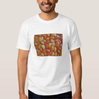Adulto cocido de la camiseta de las habas playeras