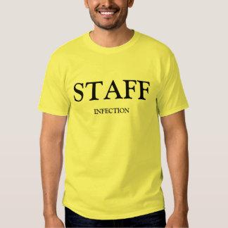 Adulto del amarillo de la infección del personal camisas