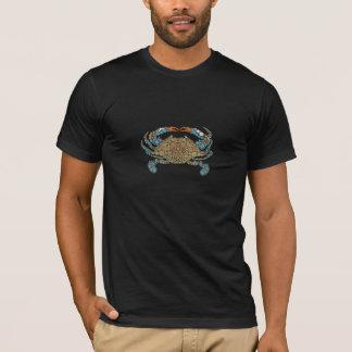 Adulto del cangrejo azul/la camiseta de los