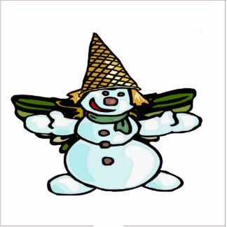 Adulto del muñeco de nieve de New Orleans Fotoescultura Vertical