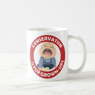 adulto gritador del conservador del bebé del demóc tazas de café