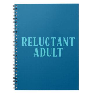 Adulto reacio libro de apuntes con espiral
