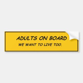 Adultos a bordo pegatina para auto
