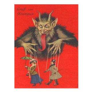 Adultos de Krampus Puppeteering Postales