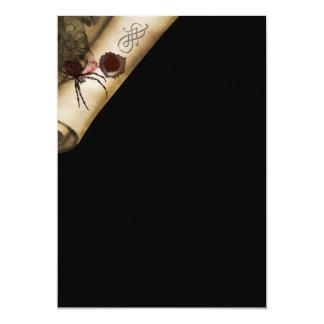 "Adults Halloween spider scroll 5"" X 7"" Invitation Card"