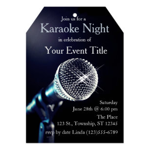 Karaoke party invitations announcements zazzle adults karaoke party custom invitation stopboris Image collections