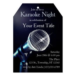 Adult's Karaoke Party Custom Invitation