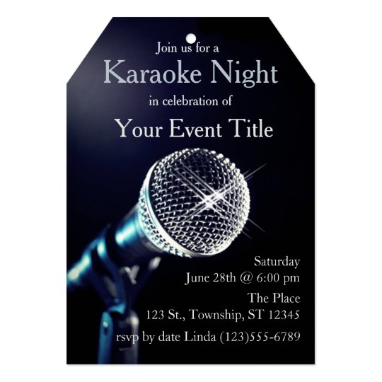 Adults karaoke party custom invitation zazzle adults karaoke party custom invitation stopboris Image collections