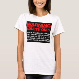 Adults_only_warning Crunk / Crunkatlanta Clothing T-Shirt