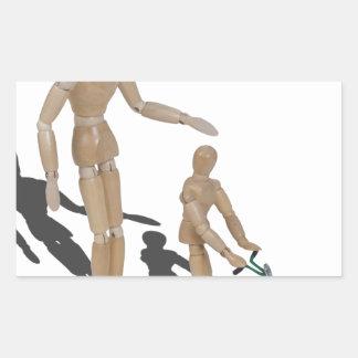 AdultSuperviseChildPushLawnMower042014.png Rectangular Sticker