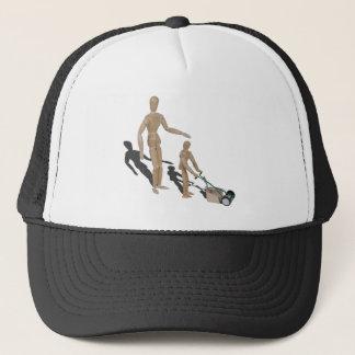 AdultSuperviseChildPushLawnMower042014.png Trucker Hat