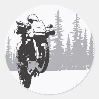 Adv Riding Classic Round Sticker