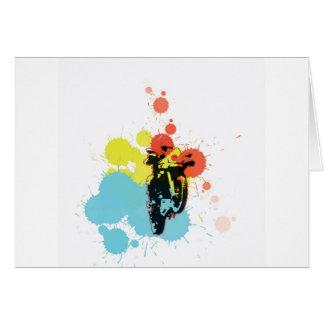 Adv Riding Colorfull Card