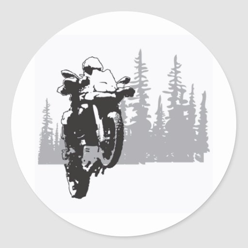 Adv Riding Round Stickers