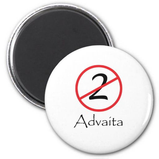 Advaita - Not Two 2 Inch Round Magnet
