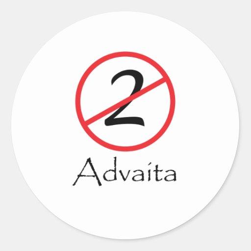 Advaita - Not Two Classic Round Sticker