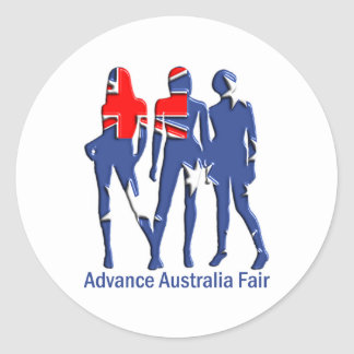 Advance Australia Fair, Australia T-Shirts! Classic Round Sticker