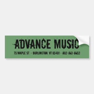 Advance Music Sticker Bumper Sticker