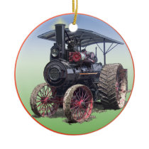 Advance Steam Traction Engine Ceramic Ornament