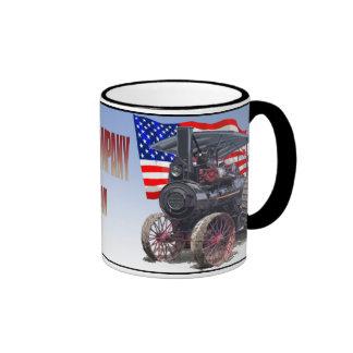 Advance Steam Traction Engine Ringer Coffee Mug