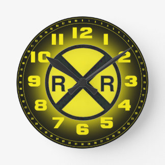 Advance Warning Sign Railroad Crossings Round Clock