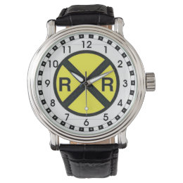 Advance Warning Sign-Railroad Crossings Wristwatch