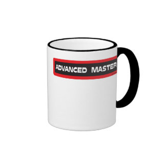 Advanced Master Template Black and Red Ringer Mug