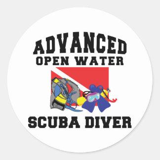 Advanced Open Water SCUBA Diver Classic Round Sticker