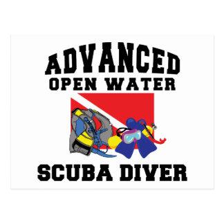 Advanced Open Water SCUBA Diver Postcard