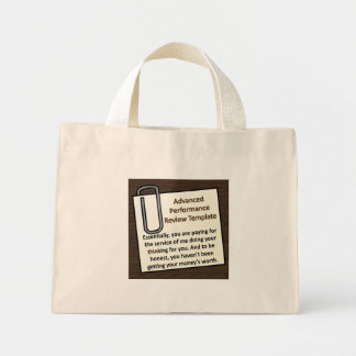Advanced Performance Review Techniques Mini Tote Bag