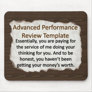 Advanced Performance Review Techniques Mouse Pad