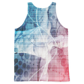 Advanced Technology and Science Abstract All-Over Print Tank Top